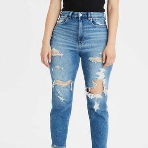 AE curvy mom jeans